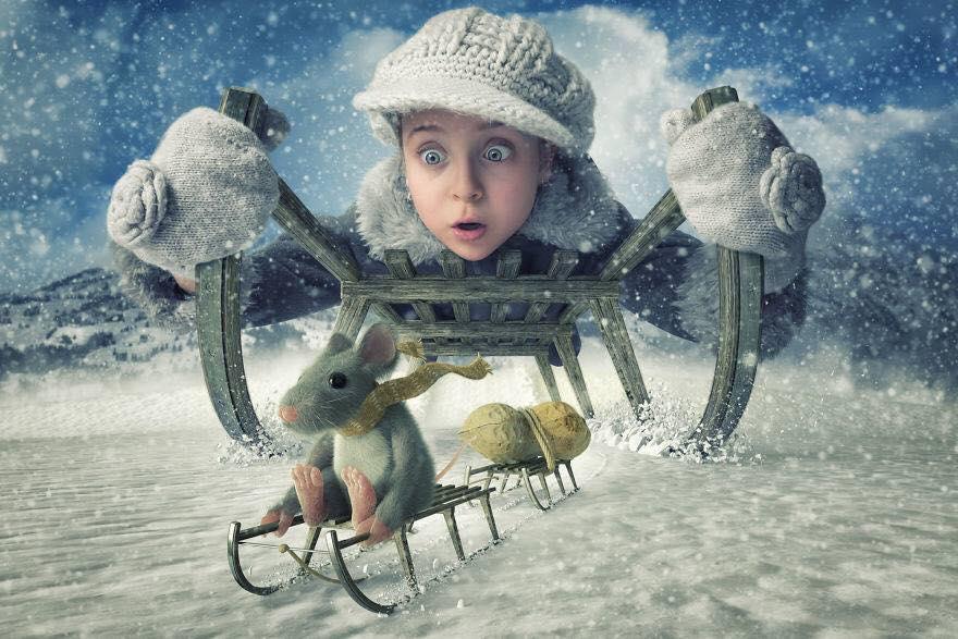 Yaratıcı Photoshop Teknikleri İle Kızlarına Yeni Dünyalar Yaratan Fotoğrafçı Yaratıcı Photoshop Teknikleri 10