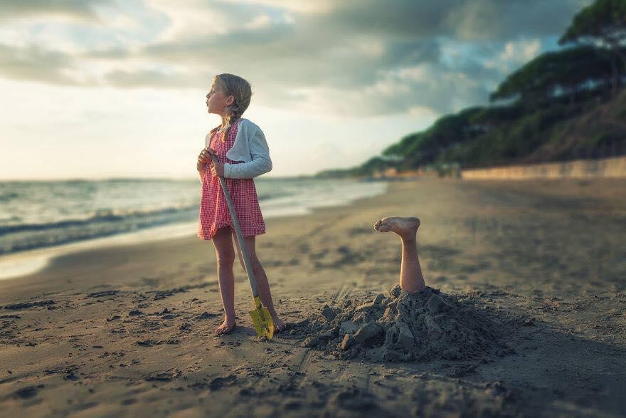 Yaratıcı Photoshop Teknikleri İle Kızlarına Yeni Dünyalar Yaratan Fotoğrafçı Yaratıcı Photoshop Teknikleri 11