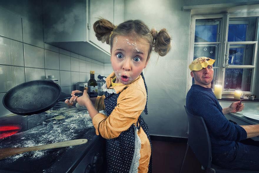 Yaratıcı Photoshop Teknikleri İle Kızlarına Yeni Dünyalar Yaratan Fotoğrafçı Yaratıcı Photoshop Teknikleri 4