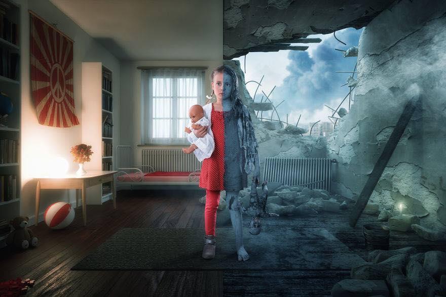 Yaratıcı Photoshop Teknikleri İle Kızlarına Yeni Dünyalar Yaratan Fotoğrafçı Yaratıcı Photoshop Teknikleri 5